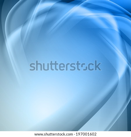 Blue abstract background with light lines and shadows.  - stock vector