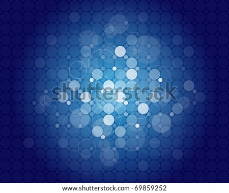 Blue abstract background with place for your text - stock vector