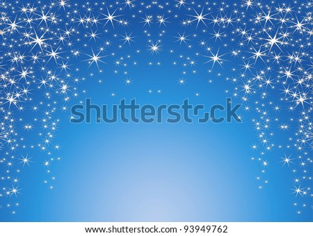 blue abstract background with stars