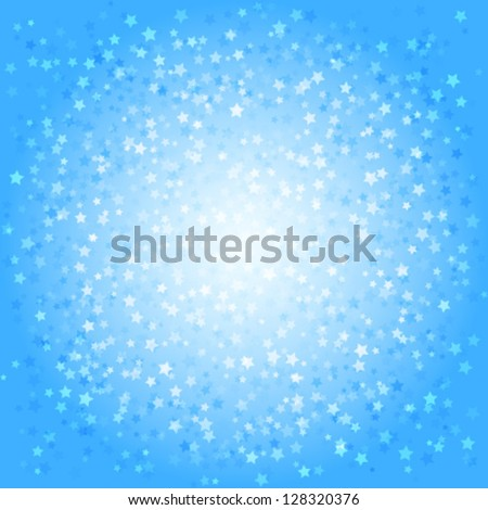 Blue abstract background with stars, vector illustration - stock vector