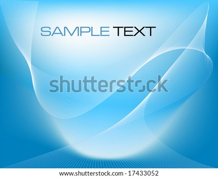 blue abstract business concept - vector illustration - stock vector