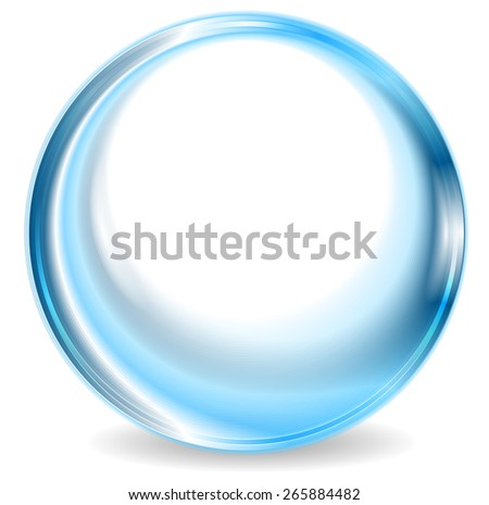 Blue abstract circle shape design. Vector background - stock vector