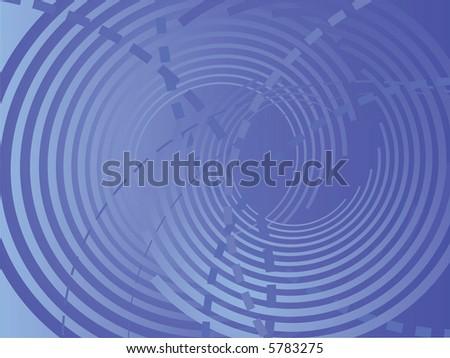 blue abstract circles,vector - stock vector