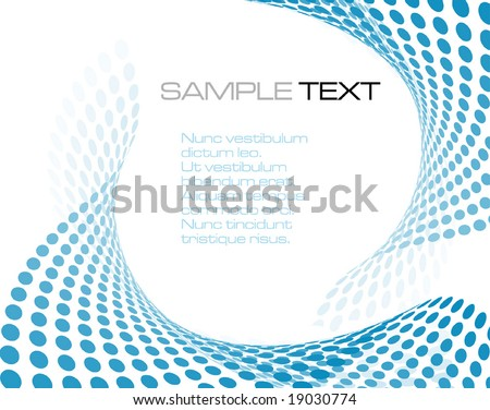 blue abstract composition - vector illustration - stock vector