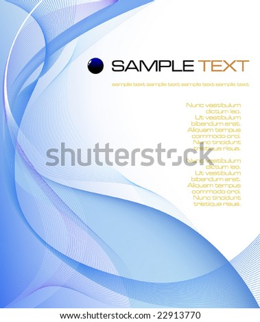 blue abstract composition - vector illustration - jpeg version in my portfolio - stock vector