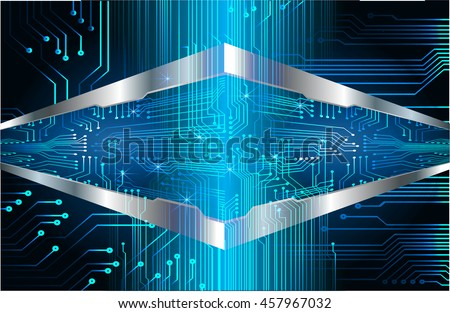 blue abstract cyber future technology concept background, illustration, circuit, binary code.