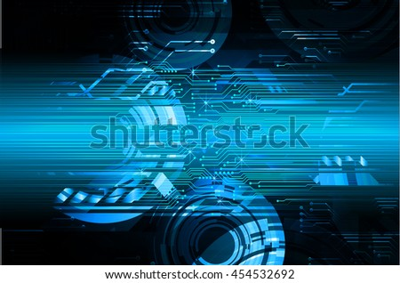blue abstract cyber future technology concept background, vector illustration, circuit, binary code