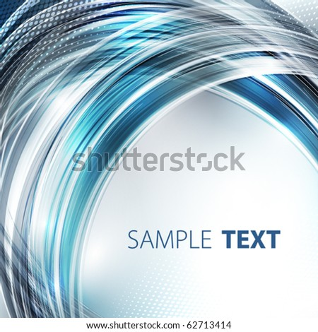 Blue abstract digital - stock vector