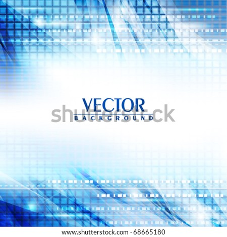 Blue abstract digital background. Vector - stock vector