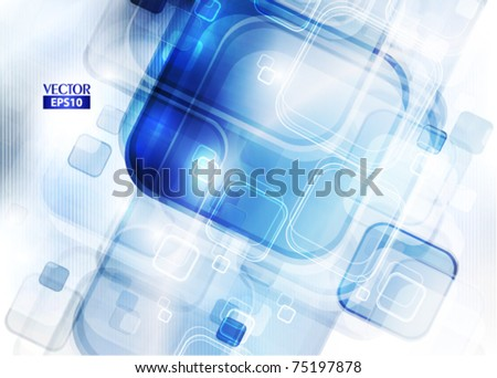 Blue abstract digital background. Vector