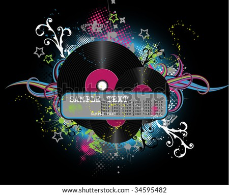 blue abstract disco background - stock vector