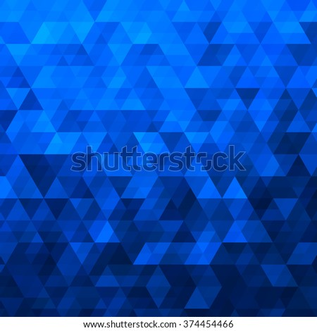 Blue Abstract Geometric Triangle Background - Vector Illustration Abstract Polygon Vector Pattern  - stock vector