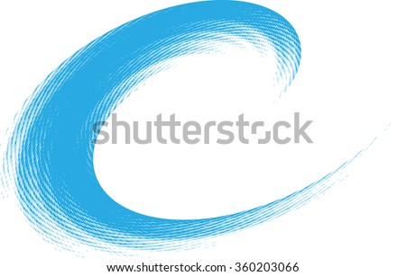 Blue Abstract Grunge Wave .Logo Surfing Element. - stock vector