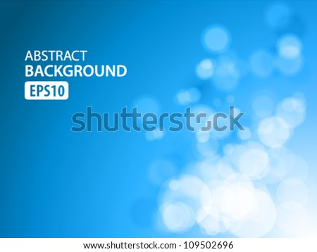 blue abstract light background - stock vector