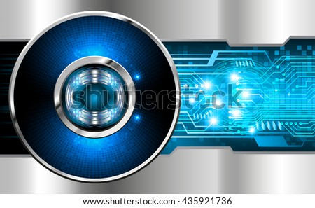 blue abstract light hi speed internet technology background illustration, Background conceptual image of digital. Cyber security concept, Cyber data digital. eye scan virus computer. vector
