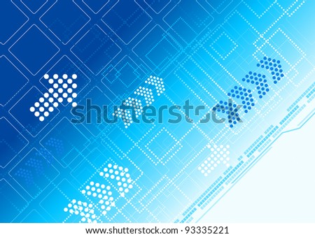 Blue abstract modern background with arrows and patterns. Jpeg version also available in gallery - stock vector