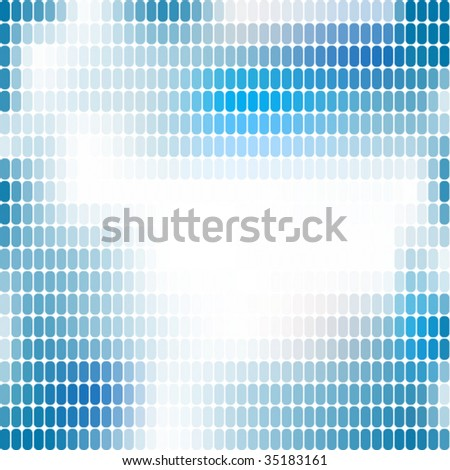 Blue abstract mosaic background series