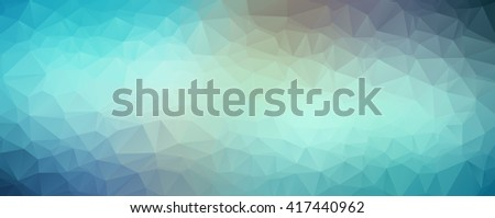 Blue abstract polygonal baner background, vector