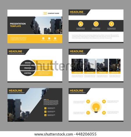blue abstract presentation templates infographic elements stock, Presentation templates