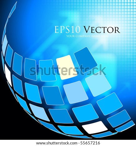 Blue abstract technical background - vector illustration - stock vector
