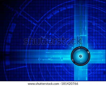 Blue abstract technology background. Vector file.