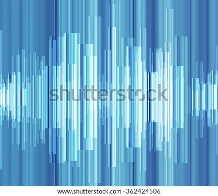 Blue abstract technology glowing energy vector background concept illustration - stock vector