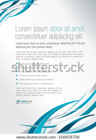 Blue abstract template for advertising brochure. Element for modern design. - stock vector