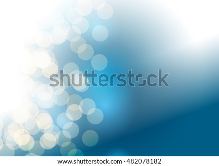 Blue abstract template for card or banner. Metal Background with waves and reflections. Business background, silver, illustration. Illustration of abstract background with a metallic element