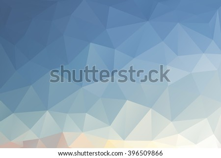 Blue abstract triangles background. - stock vector