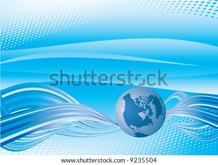 Blue abstract #2. Vector - stock vector
