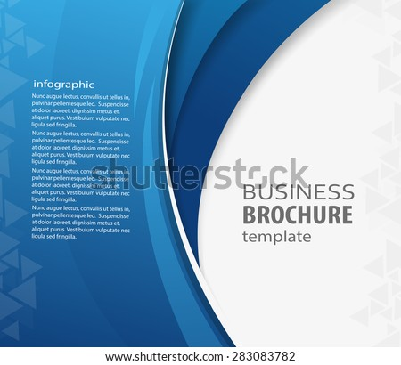 Blue abstract vector Business background. Creative flyer design, poster, booklet, brochure  - stock vector