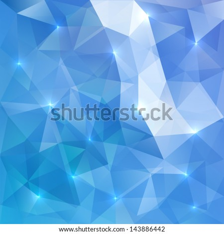 Blue abstract vector shining ice background - stock vector