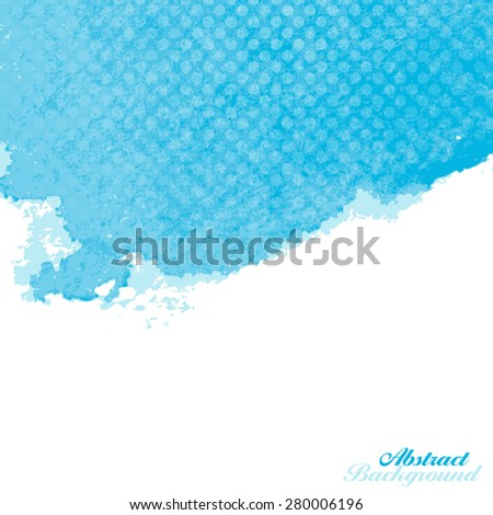 Blue Abstract Watercolor Paint Splashes Illustration. Vector Background with Place for Your Text. EPS10 - stock vector