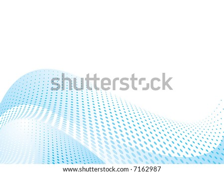 blue abstract wave ideal as a background with copy space - stock vector