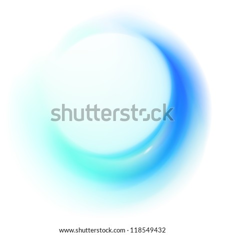 Blue abstract whirl