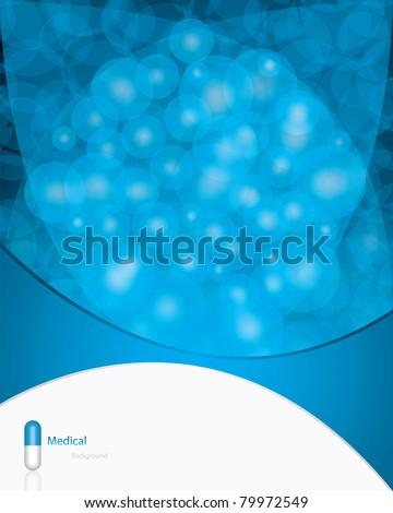 Blue alternative medication concept - vector illustration - stock vector