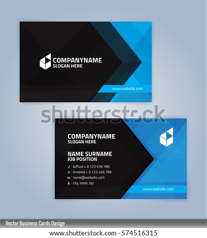 Blue black modern business card template stock vector 2018 blue and black modern business card template illustration vector 10 cheaphphosting Gallery
