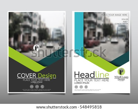 Advertising Magazine Template | stock vector blue and green flyer cover business brochure vector design leaflet advertising abstract background 548495818