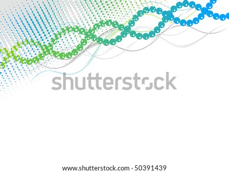 Blue and green spiral background