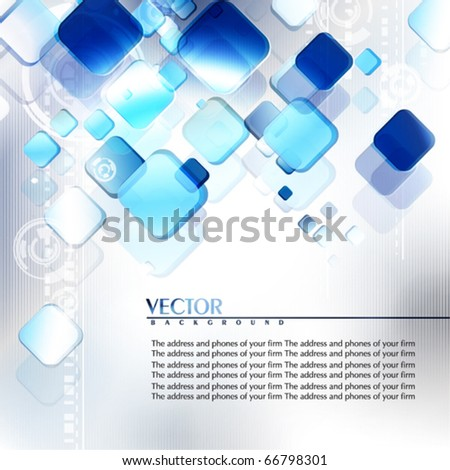 Blue and grey abstract digital background. Vector