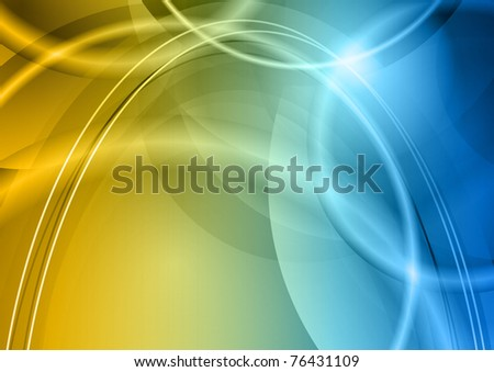 blue and orange abstract background - stock vector