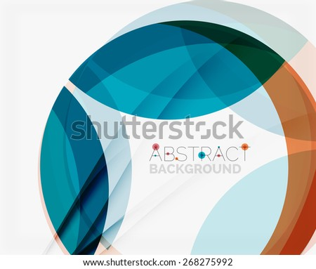 Blue and orange color shapes. Abstract background, vector illustration for your message - stock vector