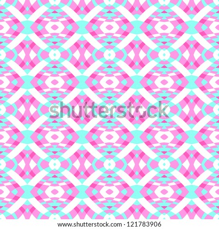 Blue and Pink Seamless Abstract Pattern - stock vector