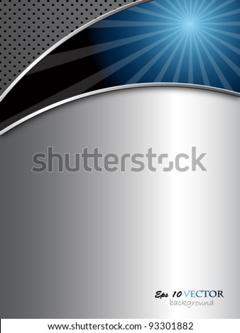 Blue and silver elegant abstract background