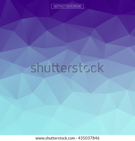Blue and violet polygon pattern. hexagon abstract background. triangle background, Design element.  - stock vector