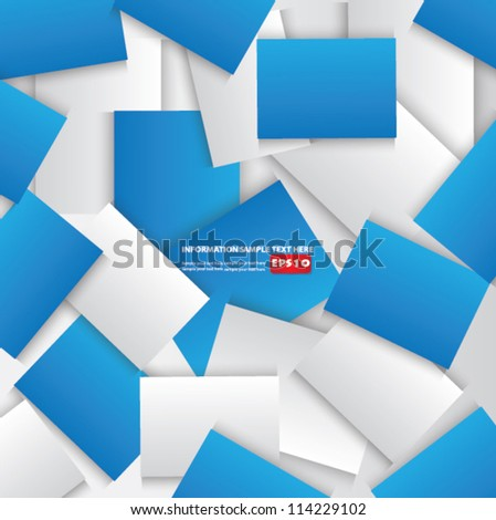 Blue and white abstract background,Vector - stock vector
