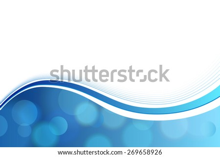 Blue and white abstract background vector  - stock vector