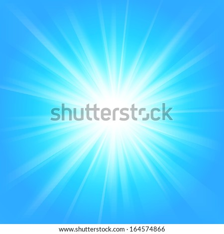 Blue and white abstract magic light background. Vector illustration for your majestic design. Element for web design. Bright wallpaper.