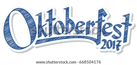 blue and white header with scribble pattern and text Oktoberfest 2017
