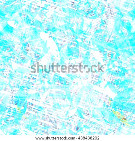Blue and white layered surface. Overlapping. Random. Scratches, petals, streaks, stripes, spots. Abstract seamless pattern. Design for fabric, wallpaper, wrapping. Grunge texture. - stock vector